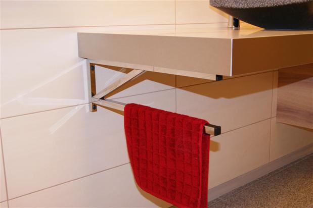 halter f r waschtisch 53cm l nge waschbecken handtuchhalter edelstahl moosinning. Black Bedroom Furniture Sets. Home Design Ideas