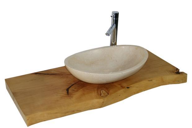 Waschbecken aus Marmor, Granit, Aufsatzbecken, Model Monaco 56cm ...